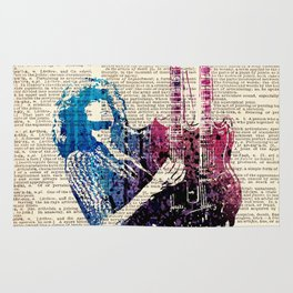JIMMY PAGE #2 on dictionary page Rug