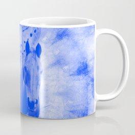 Blue pegasus in mysterious mandala landscape Coffee Mug