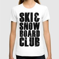 snowboard T-shirts featuring WHS Ski and Snowboard Club by slothcats