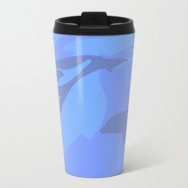 Dolphin Background Travel Mug