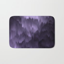 Purple and black. Abstract. Bath Mat