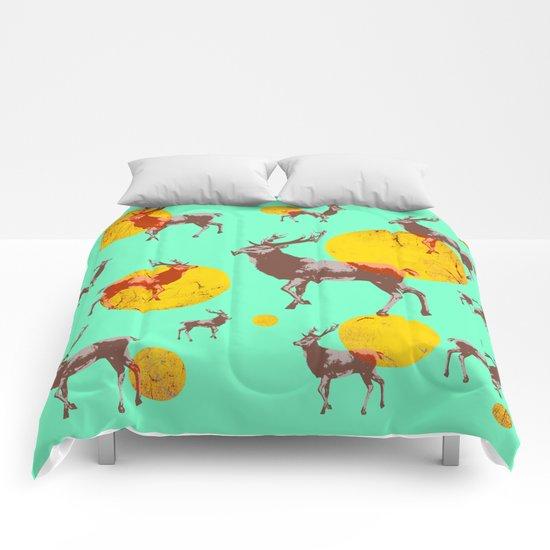 dear deers - christmas Comforters