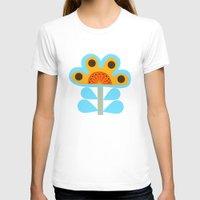 swedish T-shirts featuring swedish flowers by Wee Jock
