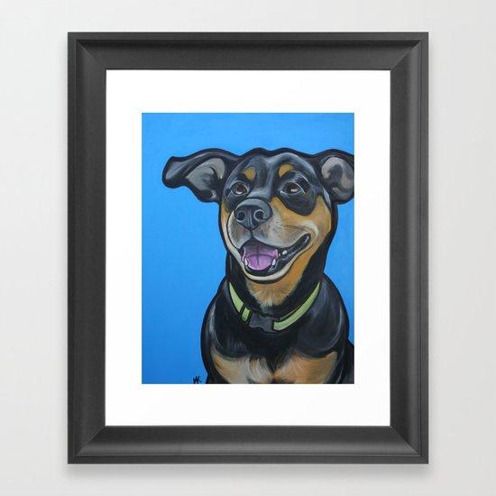Fibby Framed Art Print