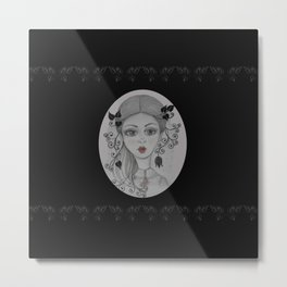 Big eyed Julie Metal Print