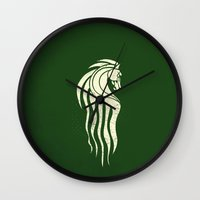 gondor Wall Clocks featuring Rohan Horse heraldry by Nxolab