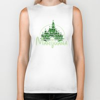 marijuana Biker Tanks featuring Marijuana  by FandomizedRose