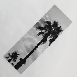Palm Trees In Black And White Yoga Mat