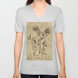Oak Branch, 1907 - 1908 by  Henri Rousseau, fine french art Unisex V-Neck