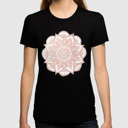 Flower Mandala on Rose Gold T-shirt
