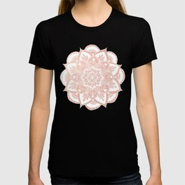 Flower Mandala on Rose Gold T-shirt