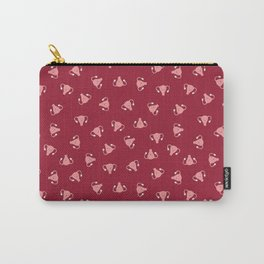 Crazy Happy Uterus in Red, small repeat Carry-All Pouch