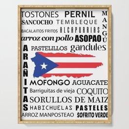 Puerto Rican foody & boricua  cousine  Serving Tray