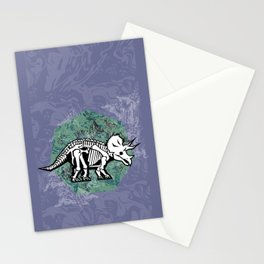 Triceratops Fossil Stationery Cards