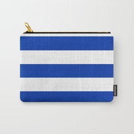 UA blue - solid color - white stripes pattern Carry-All Pouch