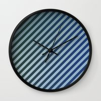 stripes Wall Clocks featuring Stripes by David Zydd