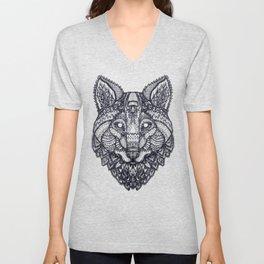 Psychedelic Wolf Unisex V-Neck