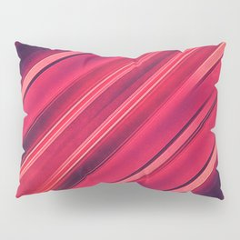 Moder Red / Black Stripe  Abstract Stream Lines Textuer Design Pillow Sham