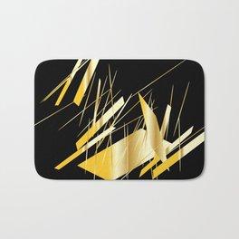 golden treasure abstract geometrical art Bath Mat
