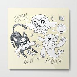 PKMN SUN + MOON Metal Print