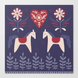 Swedish Christmas Canvas Print