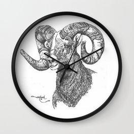 full curl Wall Clock