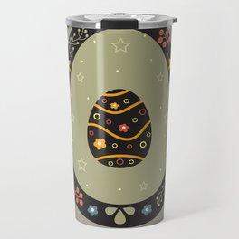 Festive Easter Egg with Cute Egg inside Travel Mug