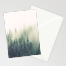 My Peacful Misty Forest II Stationery Cards