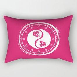Taurus Yin Yang Second Zodiac Sign Rectangular Pillow