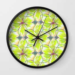 Flower Sketch 1 Wall Clock
