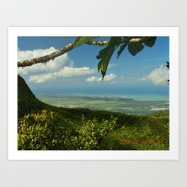 View of the Puerto Rico East Coast - from El Yunque rainforest Art Print