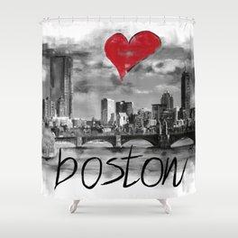 I love Boston Shower Curtain