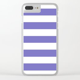 Toolbox - solid color - white stripes pattern Clear iPhone Case