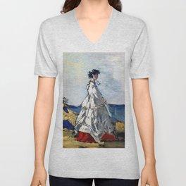 Princess Pauline Metternich on the Beach - Digital Remastered Edition Unisex V-Neck