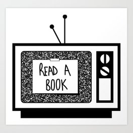 READ A BOOK Art Print