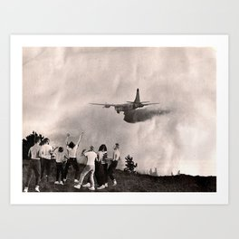 planes, trains... Art Print