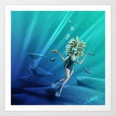 Deep Sea Feelings (Evolve) Art Print