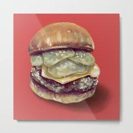 Burgertime! Metal Print