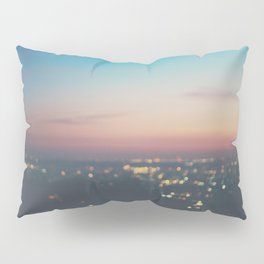 Looking down on the lights of Los Angeles as night. Pillow Sham