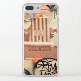 Car Vintage Graffiti Clear iPhone Case