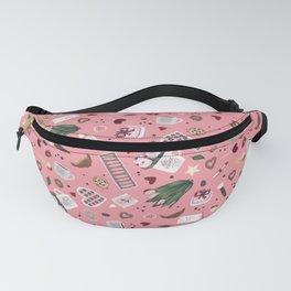 Pink Pastel Valentine Pattern Fanny Pack