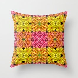 Bubble Gum Hydrangea Throw Pillow