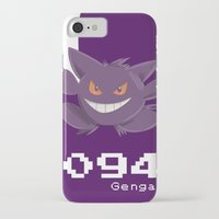 gengar iPhone & iPod Cases featuring Pkmn #094: Gengar by Michelle Rakar