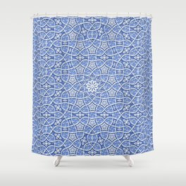 Arabesque Vines 3D - Color: Boracay Beach Shower Curtain