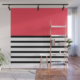 Black and White Stripe Infra Red Pattern Wall Mural