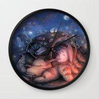 ghibli Wall Clocks featuring Ghibli Sleepover by KehChoonWee