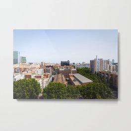 Barcelona Urbanscape Metal Print