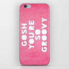 Gosh (Groovy) iPhone & iPod Skin