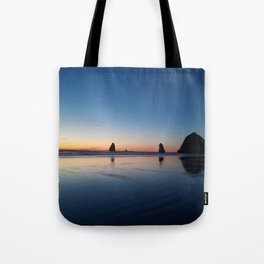 Haystack Rock Late Sunset Tote Bag