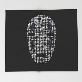 No-Face Mask Typograph Throw Blanket